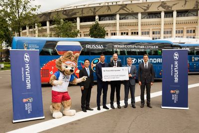 "Promotional photo to the ""Be There With Hyundai"" Campaign at the 2018 FIFA World Cup Russia™."
