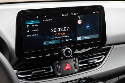 "10.25"" touchscreen inside the new Hyundai i30Fastback N"