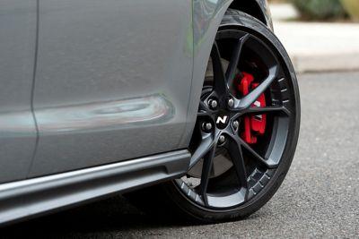 "Forget 19"" alloy wheels of thenew Hyundai i30 Fastback N."