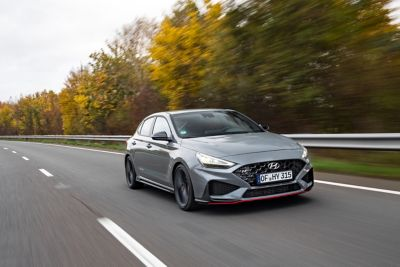 launch control reduces wheel spin or slip when launching fast with the new Hyundai i30 Fastback N