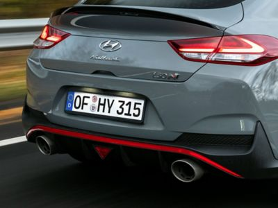 exhaust pipes on the new Hyundai i30 Fastback N
