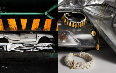Hyundai Re:Style turns auto materials like leather, glass, and airbags into valuable fashion items.