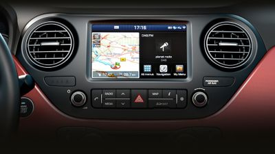 Photo of the new audio system of the Hyundai i10.
