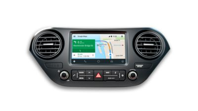 Screenshot of the LIVE services of the Hyundai i10.
