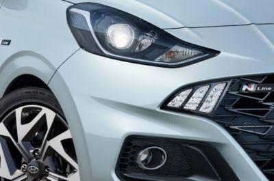 The All-New Hyundai i10 N Line LED lights