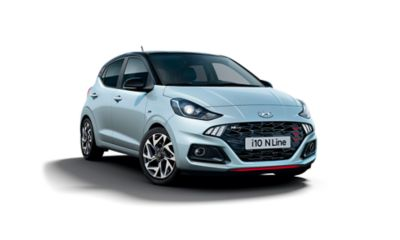 The All-New Hyundai i10 N Line three quarter front view