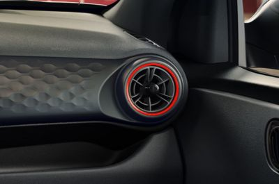 Close-up of the All-New Hyundai i10 N Line air vent on the passenger side