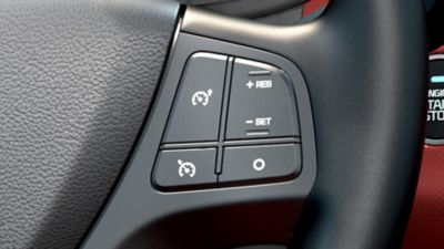 Photo of the Cruise Control buttons on the Hyundai i10.