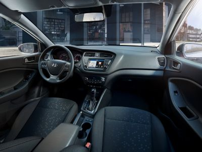 The Hyundai i20 Coupe's stylish interior.