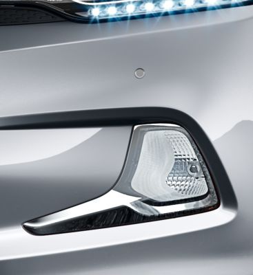 Front fog lights on the Hyundai i20 Coupe.