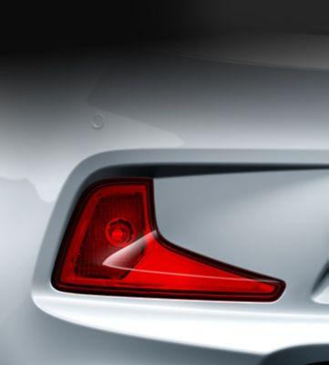 Rear fog lights on the Hyundai i20 Coupe.