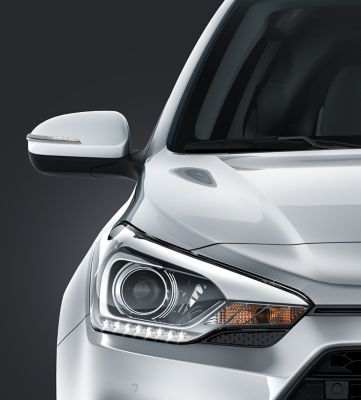 Bi-function projector headlamps on the Hyundai i20 Coupe.