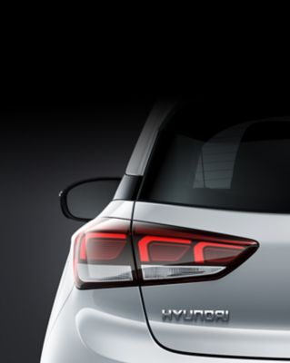 Rear combination lamps on the Hyundai i20 Coupe.
