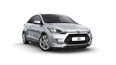 Close-up view of the Hyundai i20 Coupe.