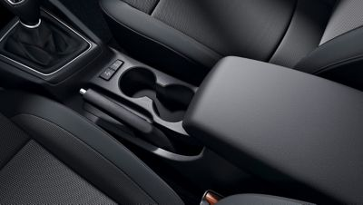 The centre armrest on the new Hyundai i20 Active offer extra stowage and comfort.