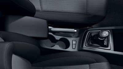 Cup holders on the new Hyundai i20 Active are conveniently located.
