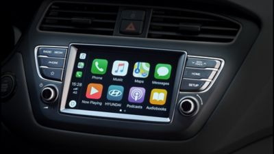 "The 7"" touch-screen on the new Hyundai i20."