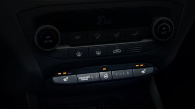 Photo of the heating controls of the new Hyundai i20 Active.