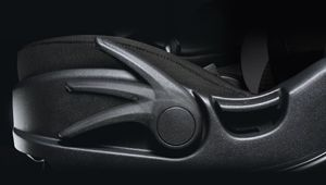 Photo of the lever adjusting the rake and height of the new Hyundai i20 Active's driver's seat.