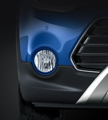 Photo of the strong fog lamps on the new Hyundai i20 Active.
