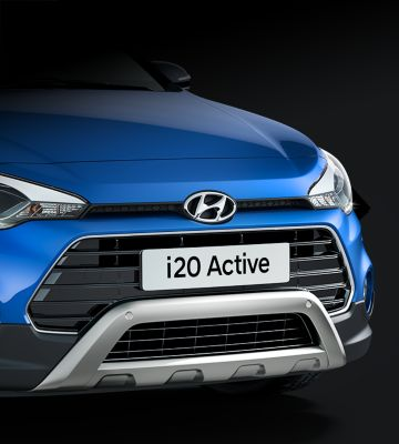 Photo of the front skid plate on the new Hyundai i20 Active.