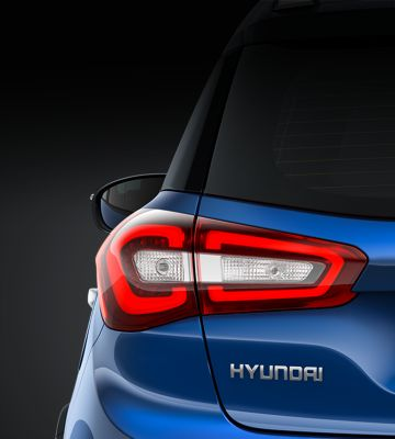 The rear combination lights on the new Hyundai i20 Active.