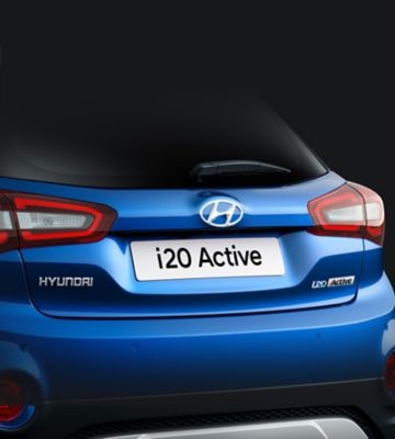 The streamlined tailgate design on the new Hyundai i20 Active.