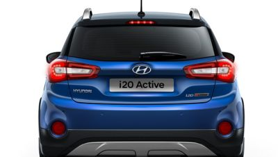 Photo showing the emergency lights on the new Hyundai i20 Active.