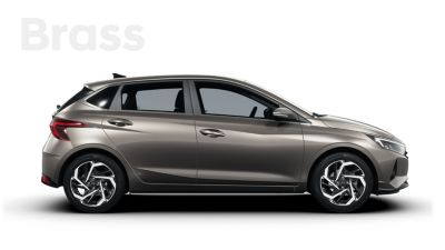 Right side view of the all-new Hyundai i20, Brass colour scheme