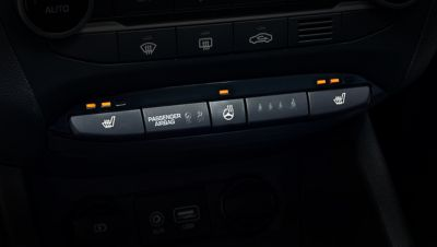Photo of the heating controls of the new Hyundai i20.