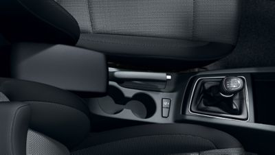 Cup holders on the new Hyundai i20 are conveniently located.