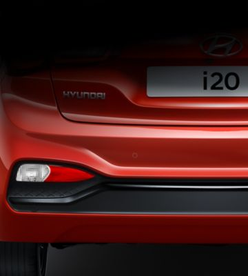The sporty bumper on the new Hyundai i20.