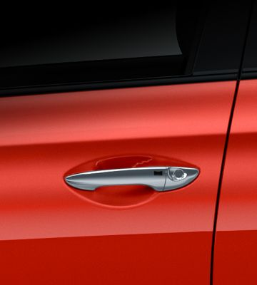 The outside handles on the new Hyundai i20.