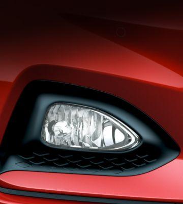 The new harmonious fog lights on the new Hyundai i20.