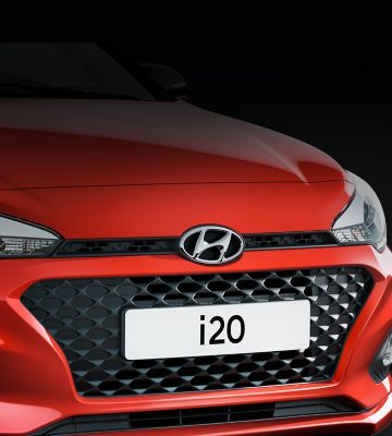 The new Hyundai i20's cascading grille.