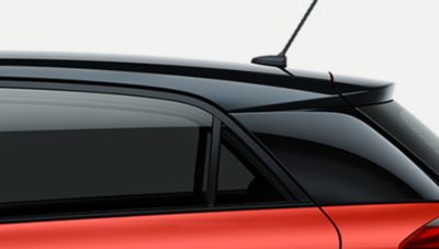 The tinted rear windows on the new Hyundai i20.