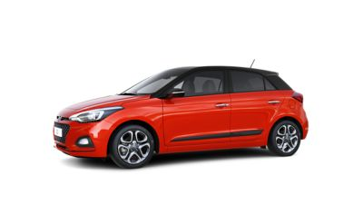 The new Hyundai i20, seen from the side.
