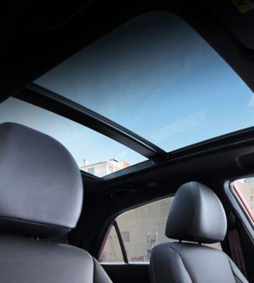The panoramic sunroof on the new Hyundai i20.