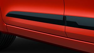 The sculpted waistline on the new Hyundai i20.