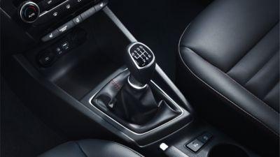 Photo showing the transmission on the new Hyundai i20.