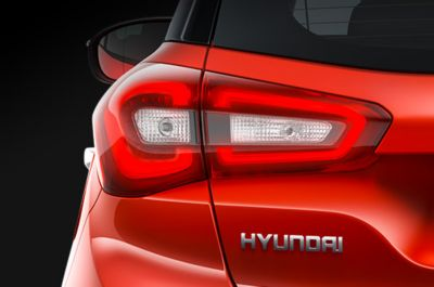 Parrilla en cascada del Hyundai i20.