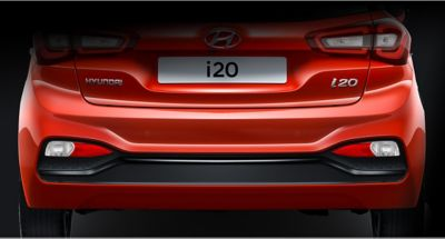 Moldura lateral del Hyundai i20.