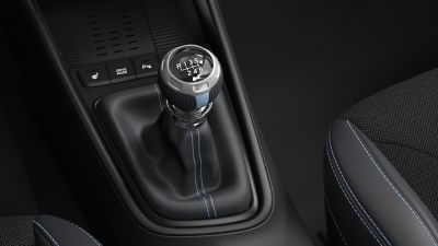 The six-speed manual transmission in the all-new Hyundai i20 N.
