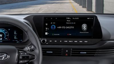 An image of the phone mirroring feature in the all-new Hyundai i20 N.