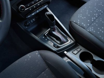 Photo showing the automatic transmission on the new Hyundai i20.