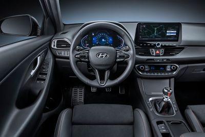 image of the new Hyundai i30 n Line interior from the driver's perspective