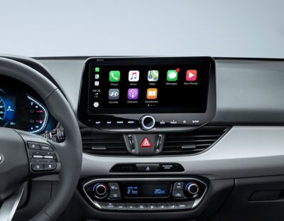 image of the new Hyundai i30 dashboard from the driver's perspective