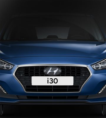 Picture of Hyundai's signature cascading grille on the new Hyundai i30.