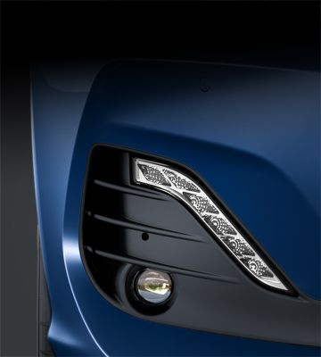 Picture of the LED daytime running lights on the new Hyundai i30.