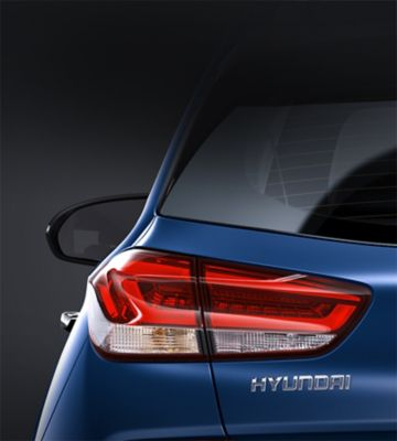 Picture of the rear combination lamps in the new Hyundai i30.